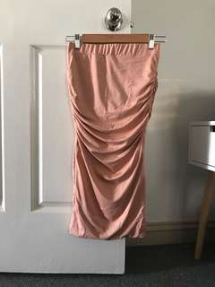 Gorgeous Silky Thick Material with Elastic Bodycon Fitted Midi Skirt
