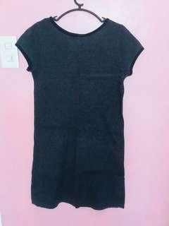 Giordano grey body con dress
