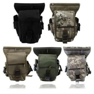 [PO745]Outdoor Tactical Military Drop Leg Bag Panel Utility Waist Belt Pouch Bag
