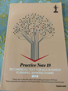 ICAEW Permitted Text - Practice Note 19