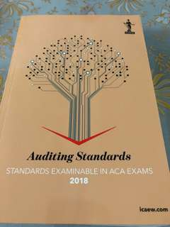 [NEW] ICAEW Permitted Text - Auditing Standards 2018