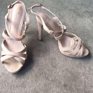 H&M Dusty pink heels size 39/ AUS8