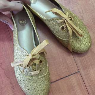 Melissa Glittered Gold Shoes