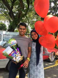 bouquet with foil belon + set helium belon + 1 roses