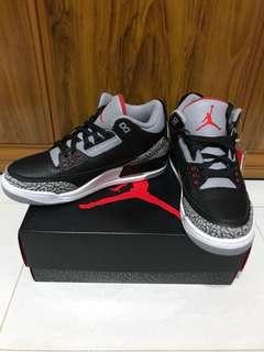 US 9.5 Air Jordan Black Cement 3