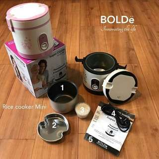 Super COOK Rice CooKeR MiNi 3 In 1 Bolde 0.6L - Original Harga Murah