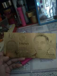 Gold Banknote $1000