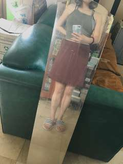 Brown, A line skirt