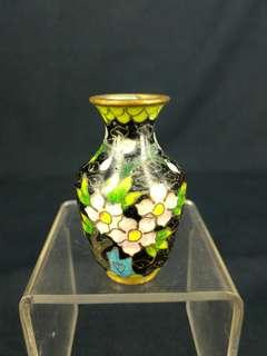 70, 80 年代 - 銅胎嵌絲琺瑯(景泰藍)小瓶