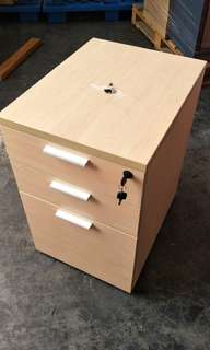 Side Pedestal Drawer on wheels with lock
