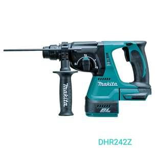 Makita /牧田 DHR242Z 18V BRUSHLESS 24mm Cordless SDS 無刷油壓衝擊鑽