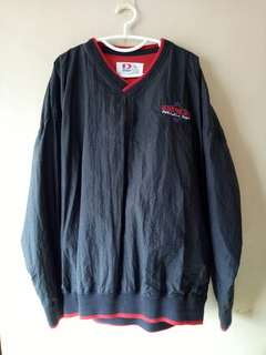 Black Water-Resistant V-Neck Sweater