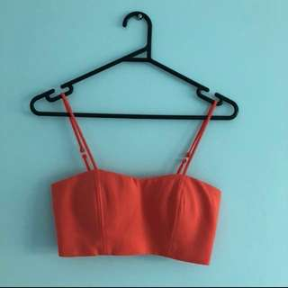 Bardot Pink Crop Top
