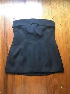 Country Road Black strapless bustier top M