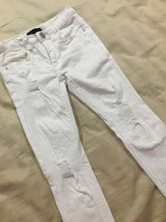 Seed girls white jeans
