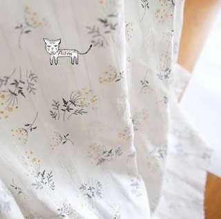 🚚 日韓熱賣 刺繡 繡花全棉質 布料