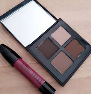 Eyeshadow and lip colour