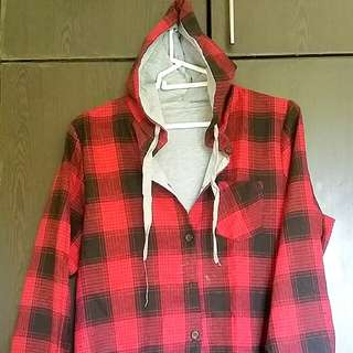 Hoodie Checkered Long Sleeve