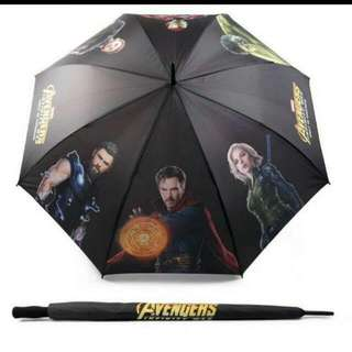 Brand New Marvel Avengers Infinity War Gold Umbrella
