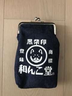 日本 黑柴印 牛仔布小包包