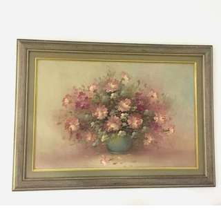 Wall Painting/Drawing/Flower/Art+Frame(4 feet)