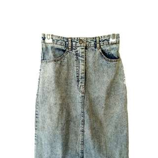 Acid Washed Skirt