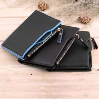 [PO760]Men's Faux Leather ID credit Card holder Bifold Coin Purse Wallet