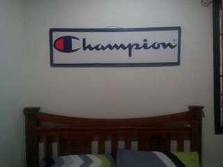 Champion (4' x 1') wall art