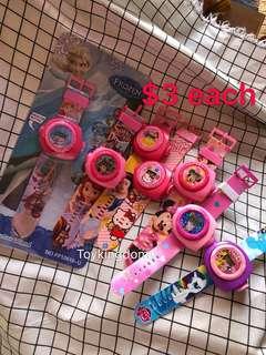 GIRLS children projector watch / digital watches children watches