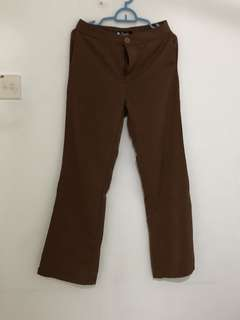 Pallazo songlar size M coklat brown
