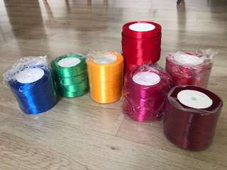 2cm wide satin ribbons