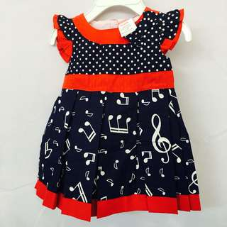 Baby Girl Musical Notes Dress SB 007