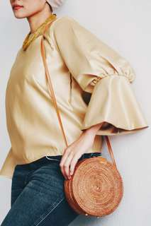 Bell Sleeve Top (Gold colour)