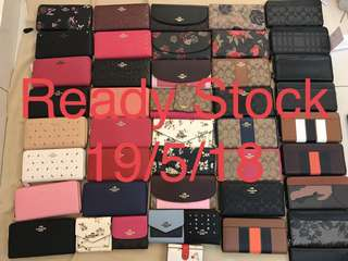 (19/5/18)Ready Stock women coach wallet purse pouch coin bag wristlets Ready Stock Raya Promotion