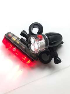 Akslen Bicycle Lights (Front and Rear Pair)