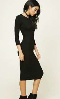 Forever 21 longline ribbed knit dress