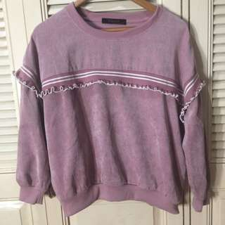 Curduroy Old Rose Sweater Top