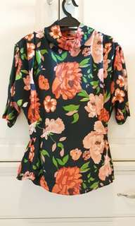 Zara Floral Top *Further reduction*