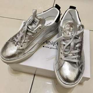 Hogan 銀色經典款休閒鞋