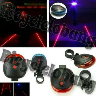 5 LED 2 Lasers Bicycle Safety Light.