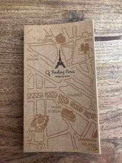 brown paper notebook