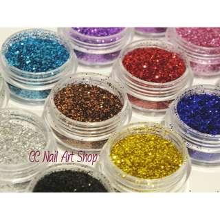 12pcs Glitter Set Beauty Nail Art Make Up Decoration Phone Fashion Body