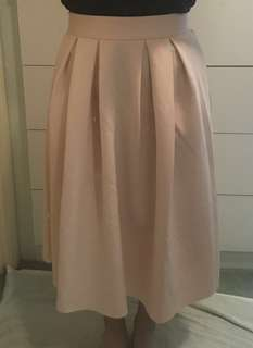 Pink scuba midi skirt