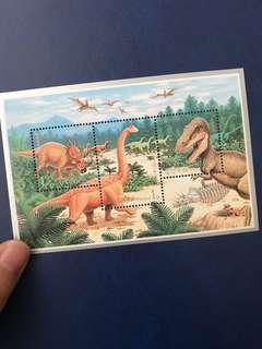 1995 朝鮮 恐龍小全張