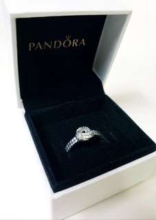 Pandora love knot silver ring
