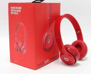 Beats Solo2 Wireless Red 全新 未開封 有即日單