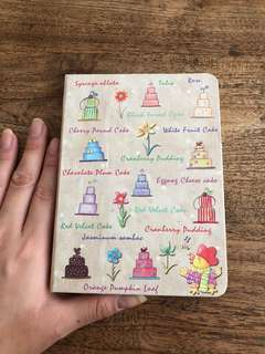 cake and flowers notebook