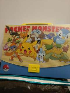 BRAND NEW AND UNUSED! Pokemon Pocket Monster Plastic Briefcase