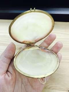 古董 貝殼首飾盒
