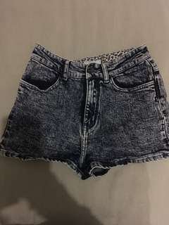 Afends High waisted acid wash shorts size 8